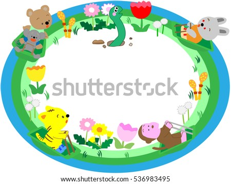 a spring title frame animals