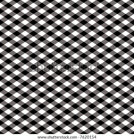 "A 12"" square seamless vector checkered pattern in black and white."