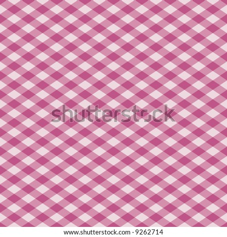 "A 12"" square seamless vector gingham in pinks."