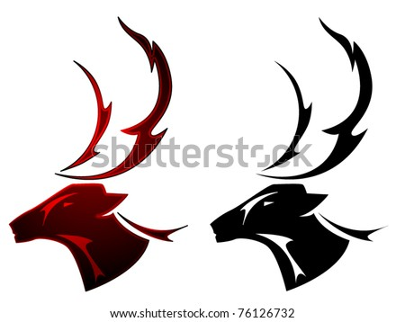 stock vector A stag deer