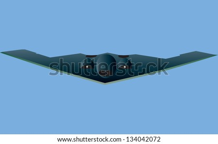 a stealth bomber aircraft in
