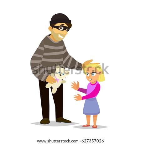 a stranger lures a little girl