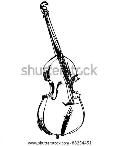 a stringed musical instrument orchestra large violin bass