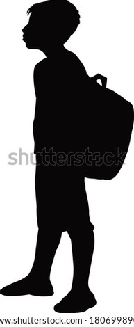 a student body body silhouette vector