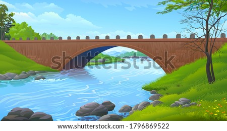 a sturdy bridge made up of