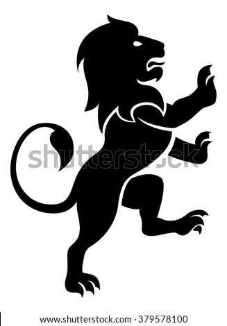 A stylised lion rampant, like the symbol for Leo Stockfoto ©