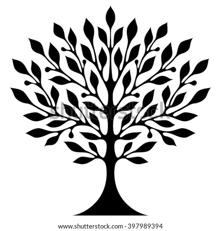 Royalty Free Decorative Simple Tree May Be Used For 299091824