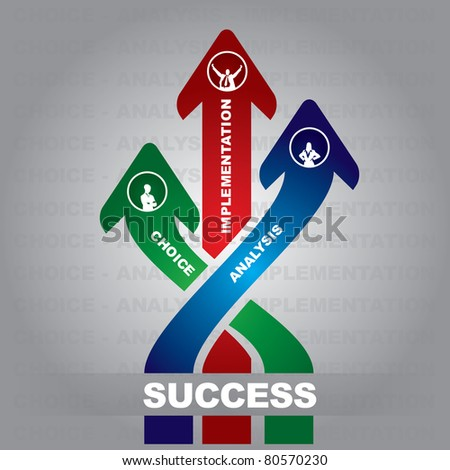 A successful business steps - abstract illustration with arrows