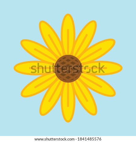 a sunflower with 12 petals on it