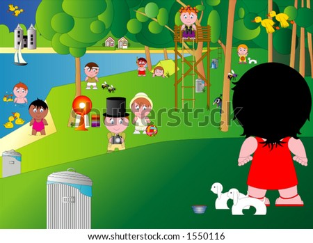 A Sunny Day In The Park Stock Vector 1550116 : Shutterstock