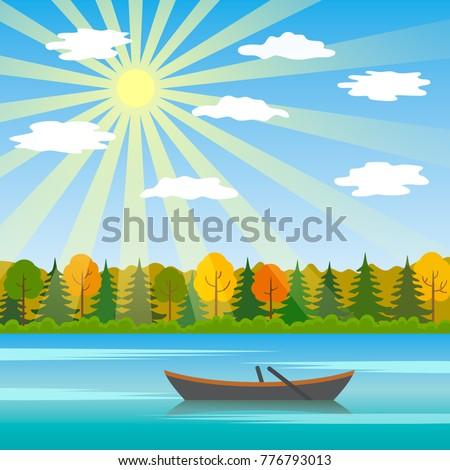 a sunny day is an autumn