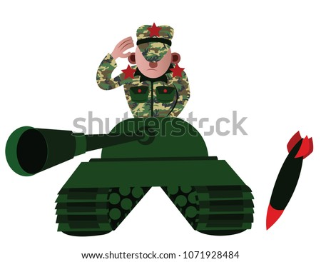 a tank commander going to battle
