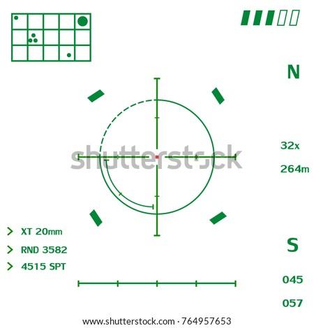 a target on a transparent