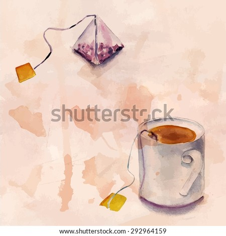 a tea bag and a tea cup on tea