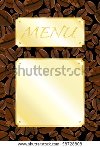 A template for a coffee shop menu. Space for your own text. Fully editable EPS10 vector format.
