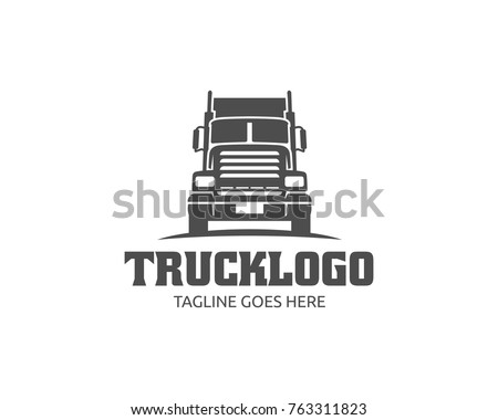 a template of truck logo  cargo