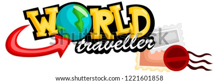 a text saying world traveller