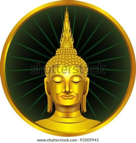 A Thai sitting buddha statue.
