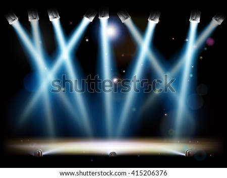 a theatre or theater stage and