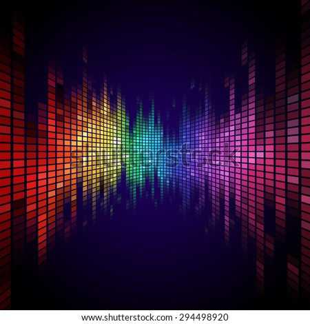A Tiled Rainbow colored equalizer effect.
