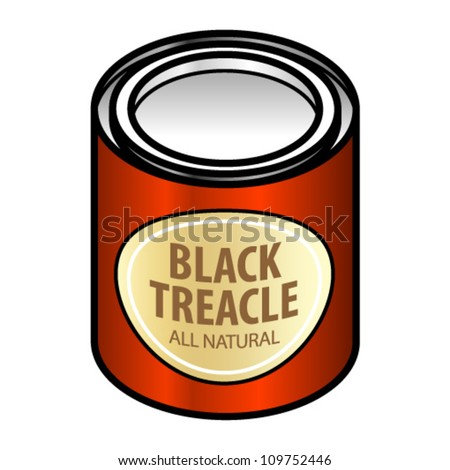 Tin Of Sticky Sweet Black Treacle. Stock Vector Illustration ...