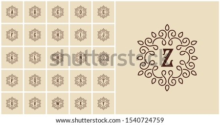 a to z letter logo logo Stock fotó ©