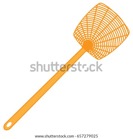 A tool for the destruction of insects at home - a fly swatter