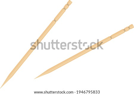 A toothpick isolated vector illustration. Foto stock ©
