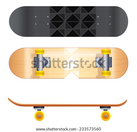 a topview of the skateboard templates on a white background