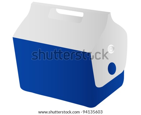 A Travel Cooler Isolated on White