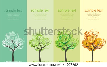 a tree in four different