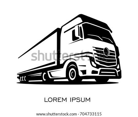 A truck silhouette logo vector