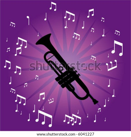 A trumpet pattern - stock vector