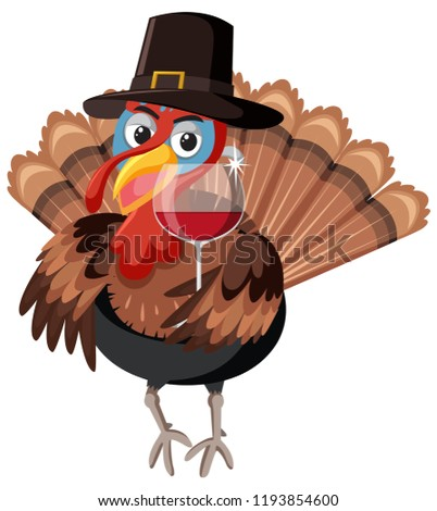 A turkey character on white background illustration