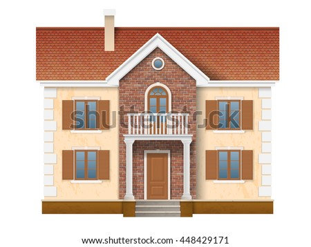 a two story residential house