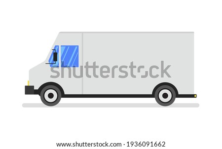 a typical american van or truck