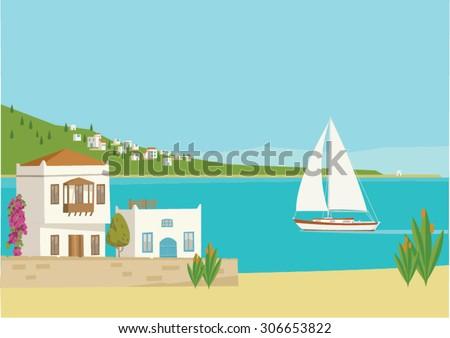 a typical mediterranean beach