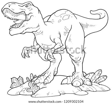 a tyrannosaurus rex outline