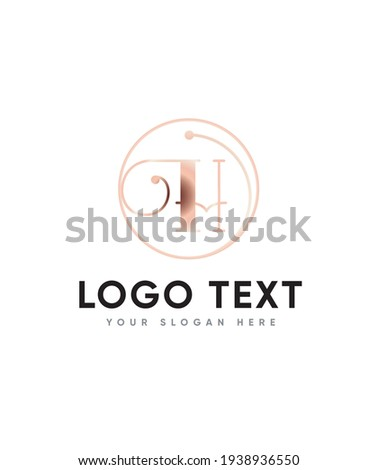 A unique and interesting bit quirky letter type H logo template Vector logo for business and company identity  Foto stock ©