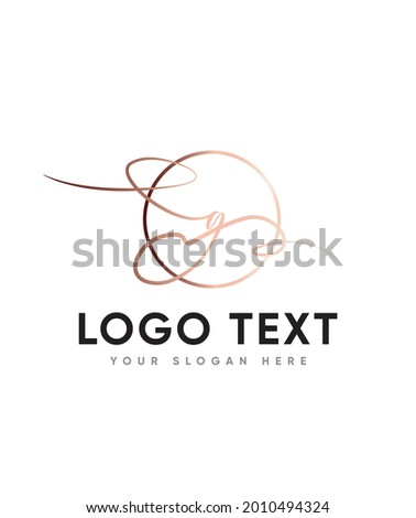 A unique feel and stunning impact and a beautiful light handwritten letter type G logo template, Vector logo for business and company identity  Stock fotó ©