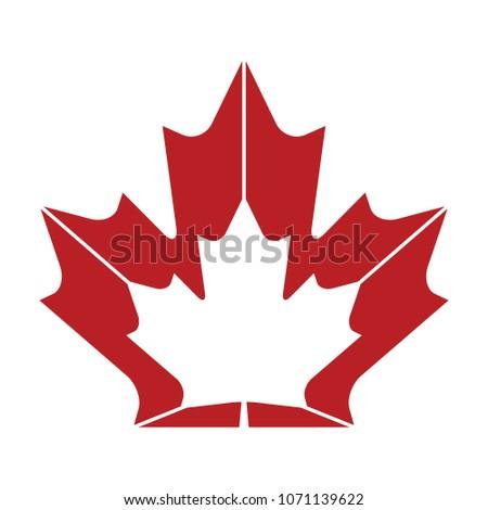 a unqiue maple leaf design in