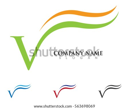 a v letter logo business