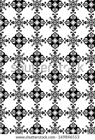 A variety of decorative pattern