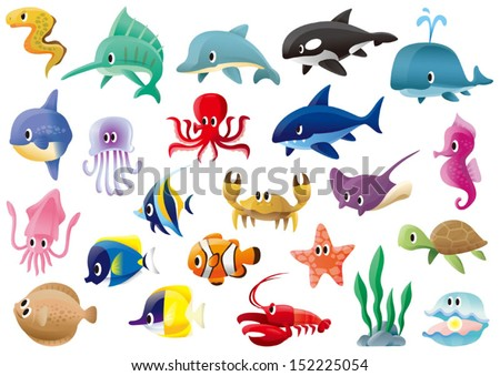 a variety of marine organisms