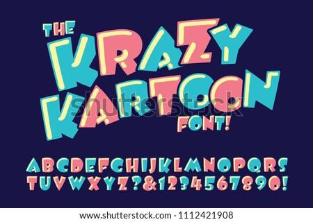 a vector alphabet in a crazy