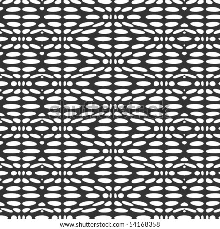 A vector, black & white, zig zag pattern