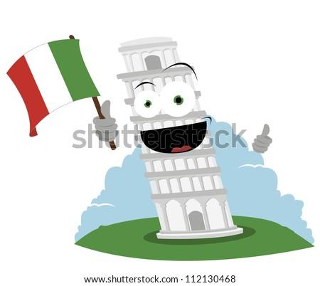 Tower Pisa Cartoon Tower of Pisa Every