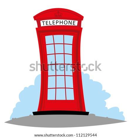 a vector cartoon representing an English Telephone