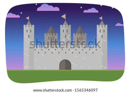 a vector castle illustration