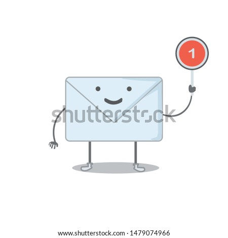 a vector, character of mail man, got an inbox mail, can be used for icon, for mobile apps or web apps